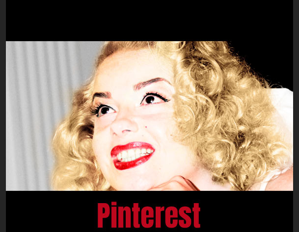 Babsy Artner as Marilyn Monroe Lookalike on Pinterest